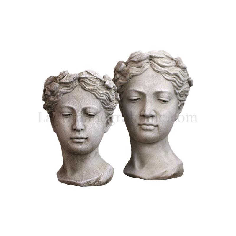 Busto macetero helenico