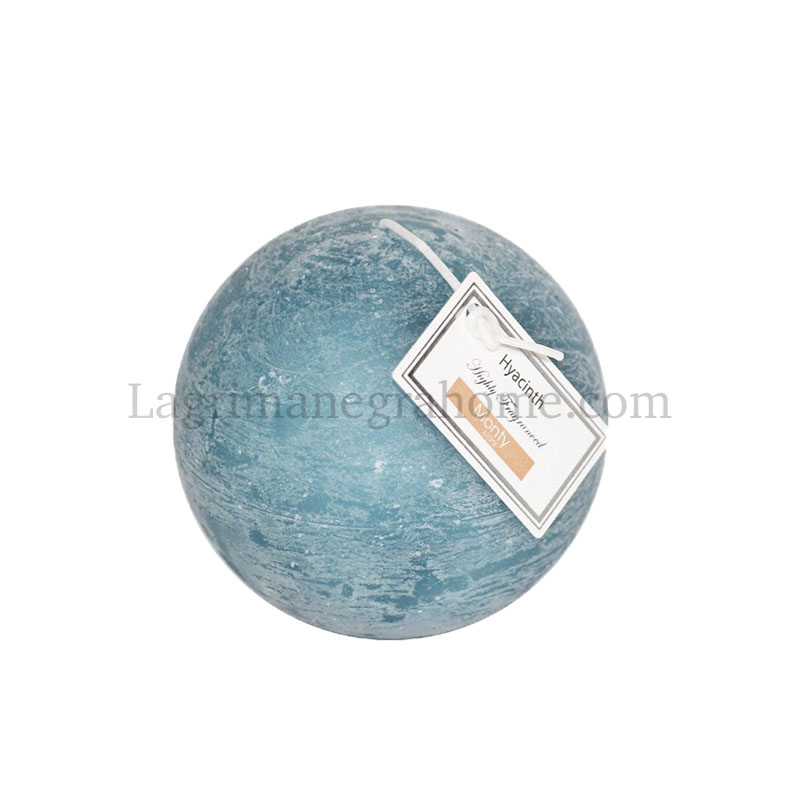 Vela bola aromática azul