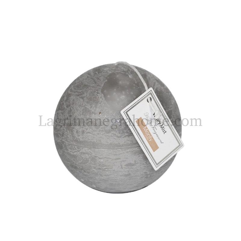 Vela aromática niebla bola gris