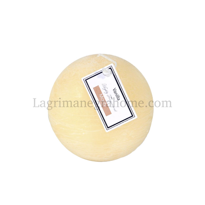 Vela aromática vainilla bola Beige