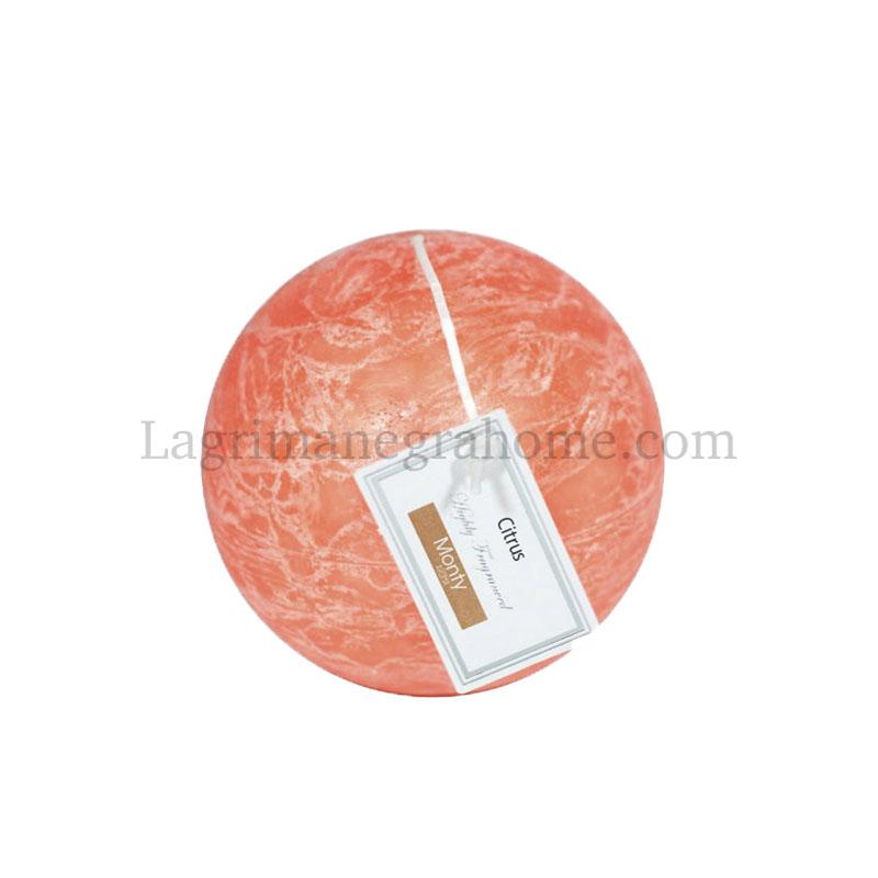 Vela aromática cítricos bola Naranja