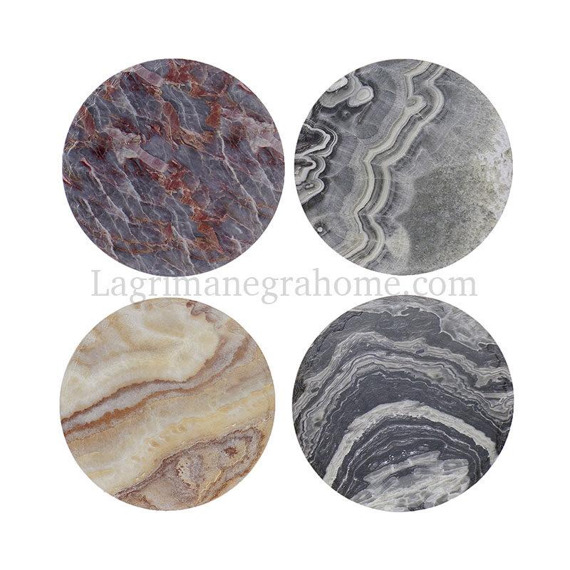 Bonitos Salvamanteles cerámica diseño geodas