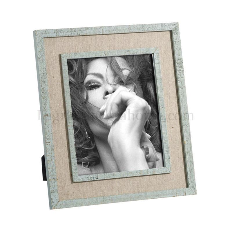 marco portafotos madera turquesa 20 × 25