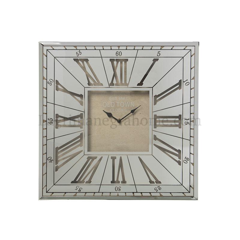 Reloj pared cristal espejo