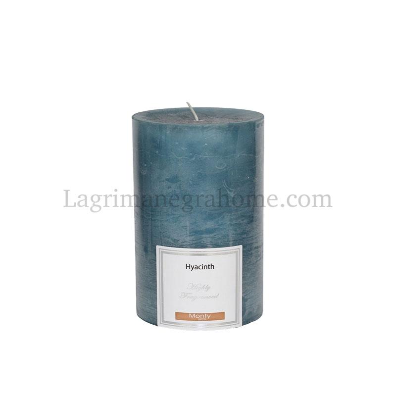 Vela Aromática Jacinto azul cilíndrica